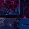 aurumcalendula: image of audio recording equipment from a scene in Atomic Blonde (editing)