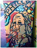 pinesandmaples: A picture of Ben Franklin on the side of a paper box in Philly. (Philly: Ben Franklin)