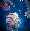 kshandra: Satellite photo of San Francisco Bay; the Marin Headlands and Oakland are also visible (San Francisco)