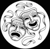 kshandra: illustration of the classic drama masks (Comedy/Tragedy)