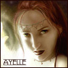 "ext_36698: Red-haired woman with flare, fantasy-art style, labeled ""Ayelle"" (Owl Bound)"