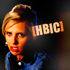 "lokifan: Close-up of Buffy standing up in ""Chosen"", text ""HBIC"" (Buffy: HBIC)"