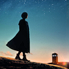kaffyr: Thirteenth Doctor in profile, w/TARDIS in distance (Thirteen sees TARDIS)
