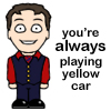 skylarking: (yellow car)