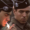 muccamukk: Dick watches while Nix lights a cigarette. (BoB: Ciggie)