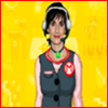 matt1993: [an edited photo of Enya, with a slightly different version of Mary O.'s clothes drawn over hers and in front of a yellow Super Mario Maker background] (enya as mary o.)