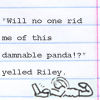 benedict: (writing: damnable panda)