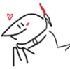 felicitygs: a smiling shark with a lazer on its back. it slaps its fins and makes a heart. (happy, shark)