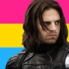 fangirlkitten: Winter Solider Bucky Barnes on Pansexual Colours (bucky barnes, pansexual, pride, winter solider)