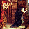 bardsley: woman holding lamp beside woman bowed by grief (de Morgan: Hope in a Prison of Despair)