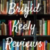 "brigid: Book case full of colorful books with the text ""brigid keely reviews"" over it (reviews)"