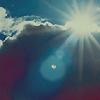 aliform: Lens flair in a summer sky (flare)