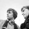 auroracloud: Second Doctor and Jamie McCrimmon with open sky behind, looking at something (2 & Jamie)