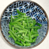 jesse_the_k: Handful of cooked green beans in a Japanese soup bowl (green beans)