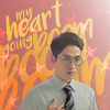 """tinny: Shen Wei (Guardian) touching his heart with the text """"my heart going boom boom boom"""" (guardian_shenwei heart going boom)"""