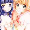 anaraine: Sakura and Tomoyo with their hands clasped between them. ([ccs] hands clasped)