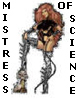 "reginagiraffe: Dominatrix with foot up on skull and a whip. ""Mistress of Science."" (science mistress - Thermidor)"