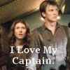 "alixtii: Mal and Kaylee, from Serenity the Movie. Text: ""I Love My Captain."" (iluvmycaptain)"