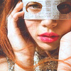 jenna_marianne: photo of a girl holding a mask made of newspaper over her eyes (Newspaper mask)