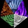 arkofeden: Pentagon: reptile, bird, tiger, fern, rose (All: Group)