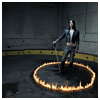 fullupwithfire: a woman standing in the middle of a circle of flames (pic | do not mistake this for burning)