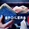 "lokifan: Image of River's diary, text ""spoilers"" (Spoilers: DW)"