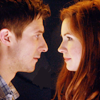 lokifan: Amy and Rory smiling at each other (Ponds)