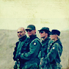 runpunkrun: sg-1 standing close together in uniform off-world (we're number one)