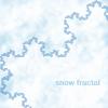 runpunkrun: portion of koch snowflake fractal, text: snow fractal (snow fractal)