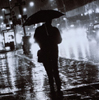 wildeabandon: A silhouette in the rain, walking away (lonely)