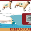 runpunkrun: illustration of numbered sheep jumping over a sleeping figure, text: runpunkrun (and then she woke up)