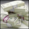 wildeabandon: piles of dollar bills (cash)
