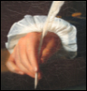 wildeabandon: Hand holding a quill (quill)