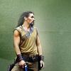 runpunkrun: ronon dex standing hipshot, blaster in hand (avant garde)
