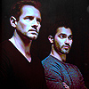 green: peter and derek hale side by side (teen wolf: deter)