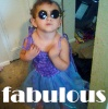 the_fierce: picture of baby in purple tutu and too-big shades (FABulous)