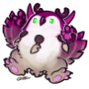 coinmanatee: A cartoon moonkin in ace colours (ace, moonkin)