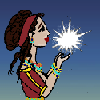 minoanmiss: Minoan lady holding a bright white star (Lady With Star)