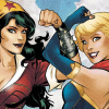 meicdon13: Wonder Woman and Supergirl from the DC Bombshells with linked flexed arms (DC: Bombshells Wondy and Supergirl)