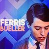 electric_heart: Matthew Broderick as Ferris Bueler in a suit looking down (Ferris Bueler)