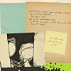 pospreterito: a scattered pile of papers and drawings ({process} ..ar elegance and thought)