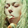 jesse_the_k: Helena blissfully stuffs her face (Helena (OB) eats)