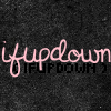 pospreterito: 'ifupdown' in two fonts (black on black, pink on black) ({stories} ..ifupdown)