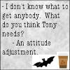 waldo: (ncis: Tony needs an attitude adjustment, ncis: Tony needs attitude adjustment)