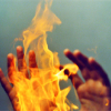 pospreterito: two hands conjuring fire ({stories} ..dae fire and fire)