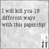 waldo: (ncis: Kill you with paperclip)