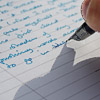 ext_12726: Pen writing on paper (Freewriting)