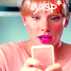 """electric_heart: Black Mirror Episode """"Nose Dive"""" Lacy looking at her phone gasping (Gasp)"""