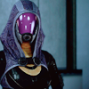 brightblueink: Tali from Mass Effect 2 just...being Tali. You can't see an expression because of a helmet she always wears. (Tali)
