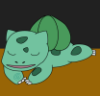 sleepysaur: A sleeping Bulbasaur (bulbasaur, pokemon, sleeping)